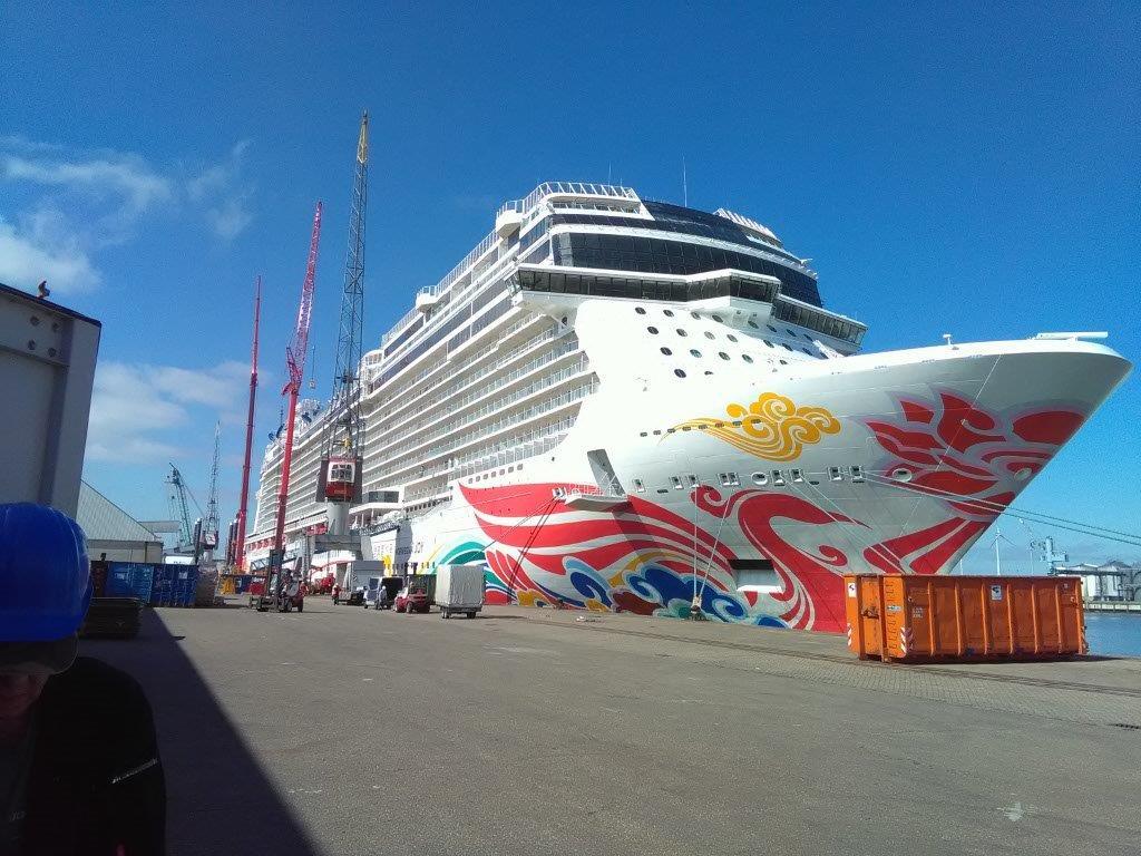 Wertindustrie - Geländer, Plattformen für Rettungsboote MV-Blechbearbeitung